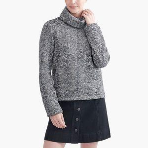 J.Crew Glen Plaid Mockneck Sweater